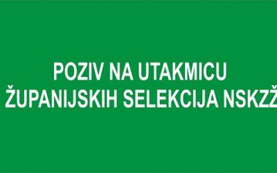 Poziv za selektivne utakmice u Radoboju,27.09.2021.